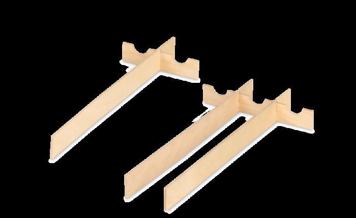 Pontets intérieurs pour cassette en bois