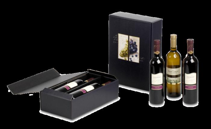 Carton cadeau pour bouteilles à motif RAISINS