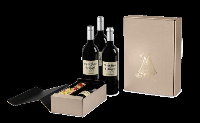 Carton cadeau pour bouteilles VITA X-MAS