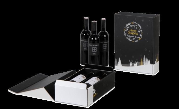 Carton cadeau pour bouteilles MERRY X-MAS