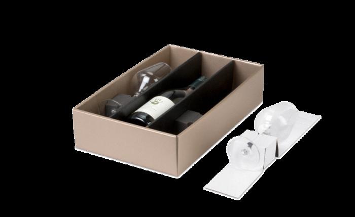 Insert pour verre pour carton cadeau bouteilles