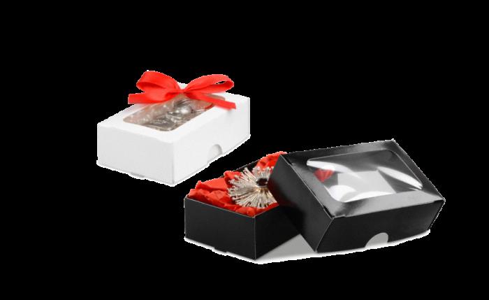 Coffret cadeau mini avec fenêtre transparente