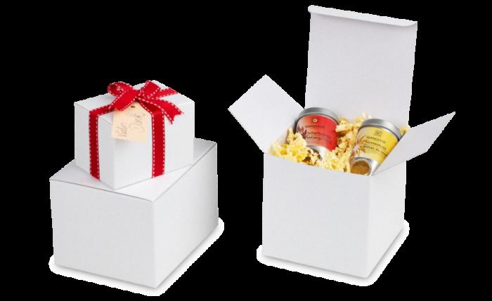 Coffret cadeau et de présentation blanc