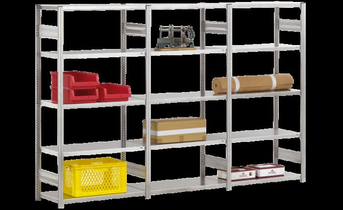 Elément de base pour étagère enfichable - construction légère