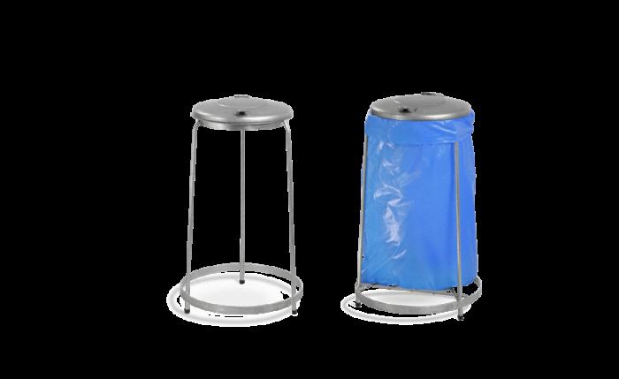 Collecteur de déchets fixe et galvanisé