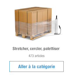 Stretcher, cercler, palettiser